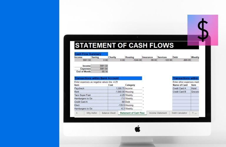Where Did my Money Go Statement of Cash Flow