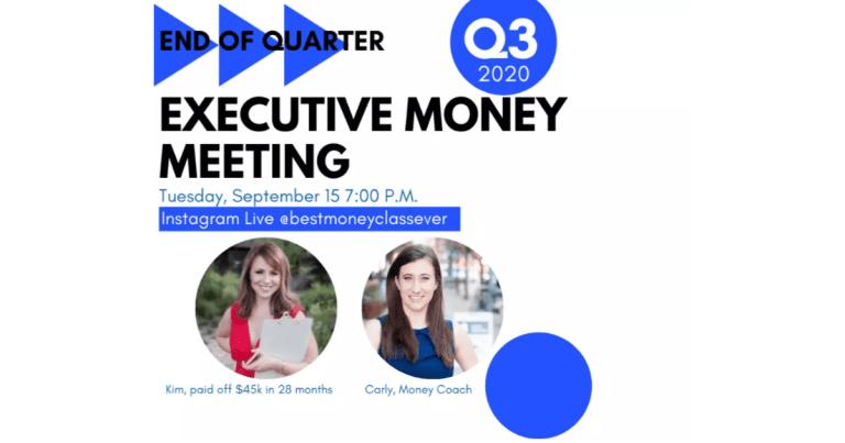 executive money meeting