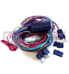complete universal 12v 20 circuit 20 fuse wiring harness wire kit hot rod rat v8 [ 1300 x 1300 Pixel ]