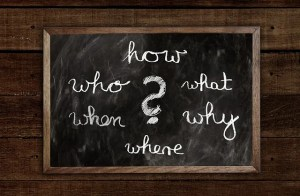 A blackboard with question mark