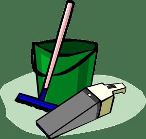 broom and the dust bin