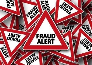 Road sign for fraud alert