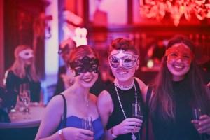 friends having fun at best Halloween parties in Miami.