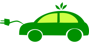 green car powered by electricity