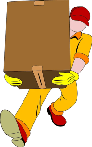 A person that carries a essential box