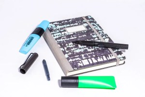 Markers and a notebook