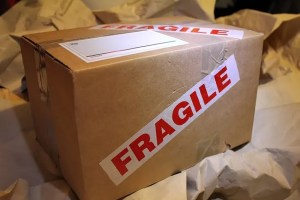 A box that was labeled with fragile
