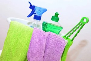 Cleaning supplies, be sure you clean everything before you start packing sports equipment