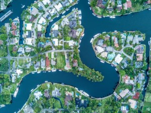 Aerial view of Fort Lauderdale.