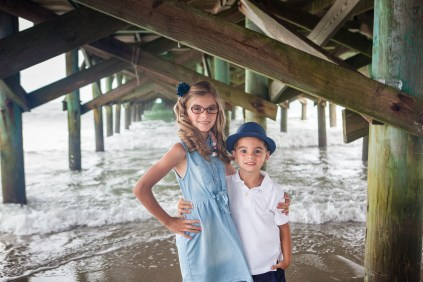 Myrtle Beach family Photography near the pier