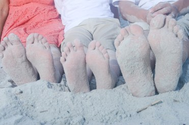 picture of feet in the sand