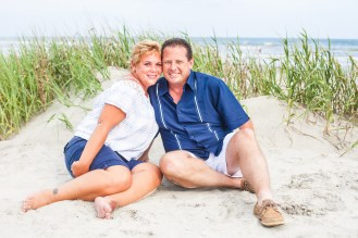 Couple getting beach photos