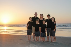 Wearing black for a sunrise photo session