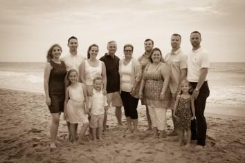 Black & White family reunion portraits on the Beach
