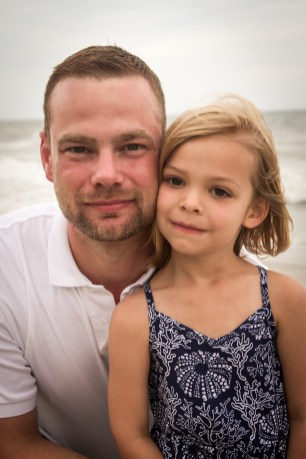 Beautiful Father & Daughter beach portrait