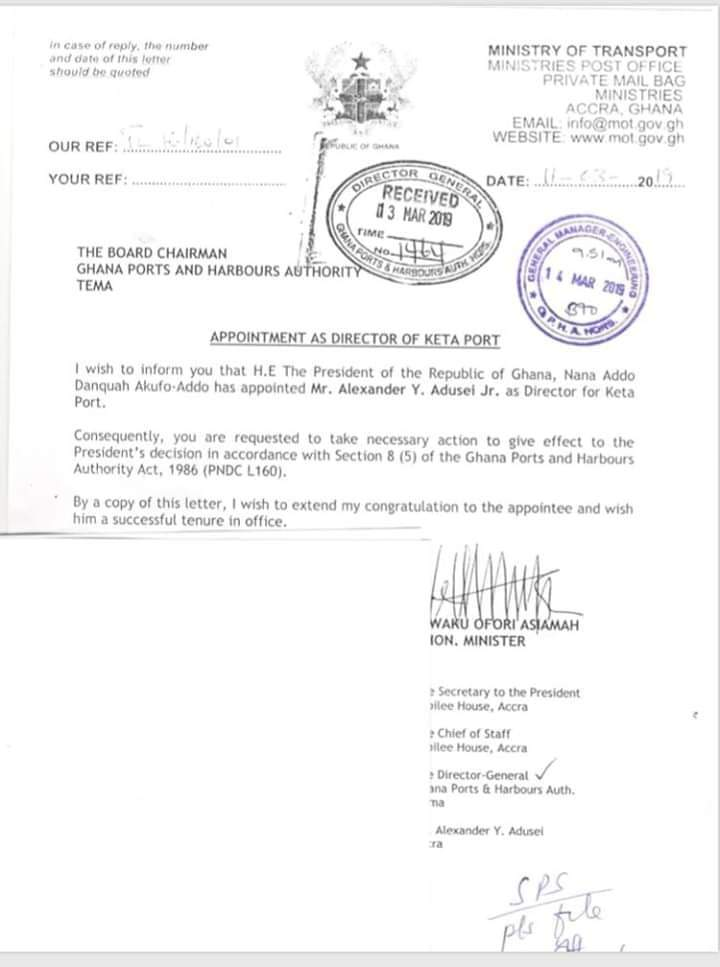 Gov't appoints Alexander Adusei Jnr. as Dircetor of Keta