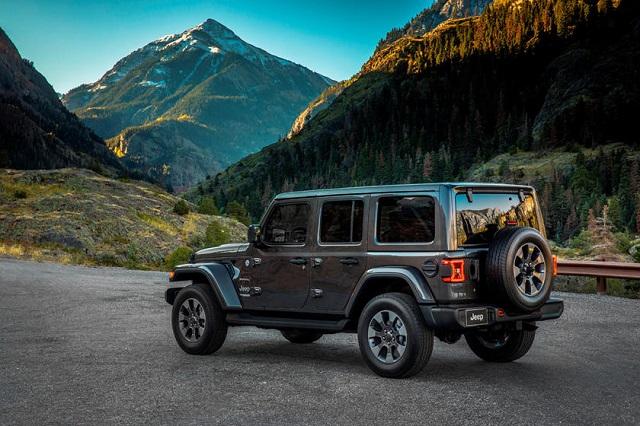 2022 jeep wrangler rear view