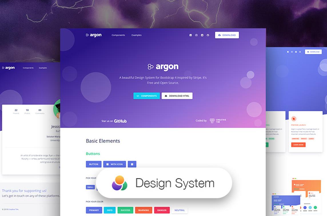 Vue Argon Design System - Free & Open-Source Design System - Built With Vue.js