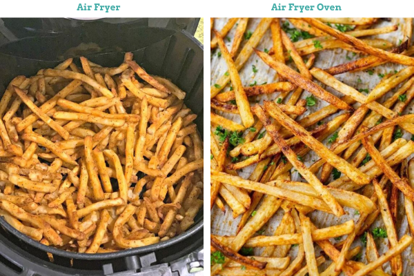 air fryer toaster oven cooking results fries