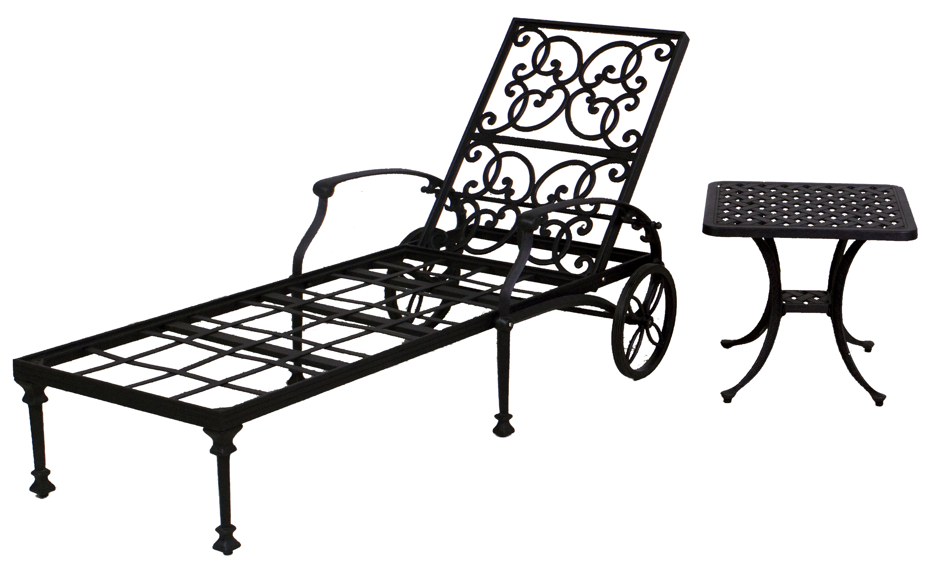 Florence Collection Chaise Lounge Chair Set