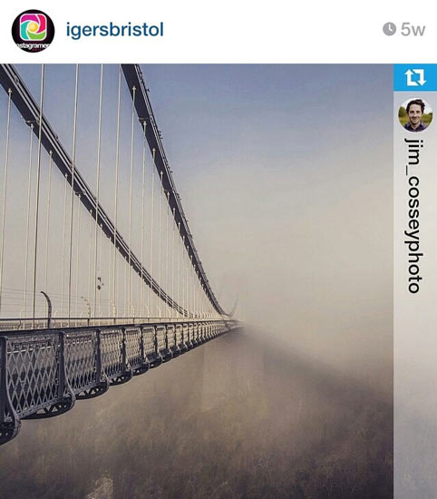 Fog Clifton Suspension Bridge