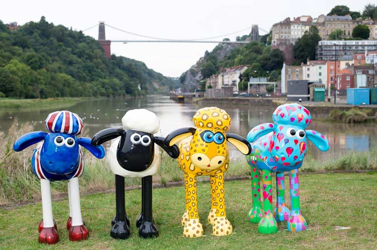 Bristol shaun in the city