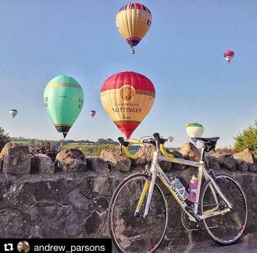 Bike at the Bristol Balloon Fiesta