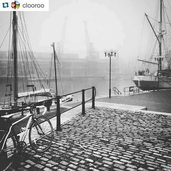 Misty Bristol Harbour