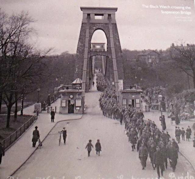 ww1 clifton suspension bridge