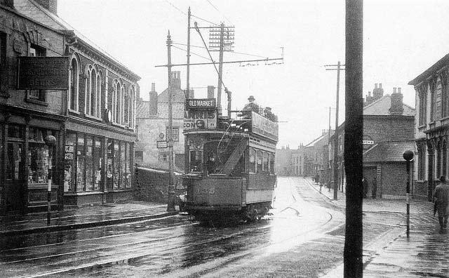 Tram in 1939 on Whiteway Road