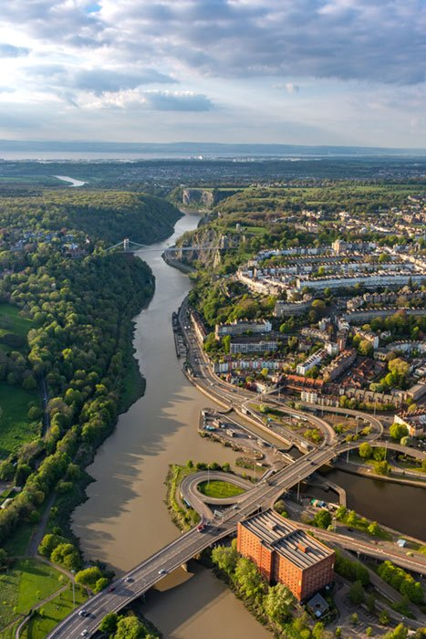 avon gorge from above