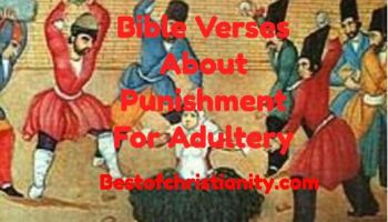 Bible Verses About Punishment For Adultery