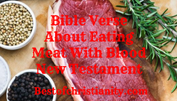 Bible Verse About Eating Meat With Blood New Testament