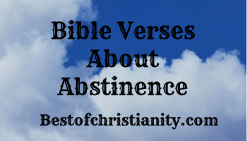 Bible Verses About Abstinence