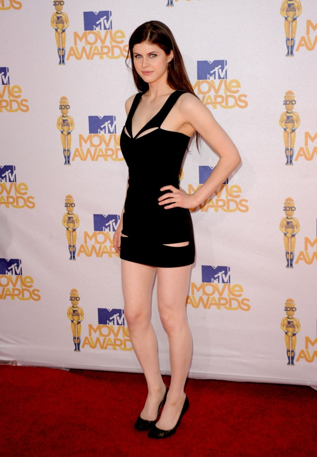 Alexandra Daddario Hot in Black
