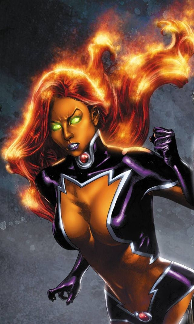 Starfire Angry Face