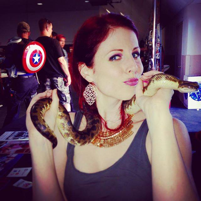Alison MacInnis with Snake