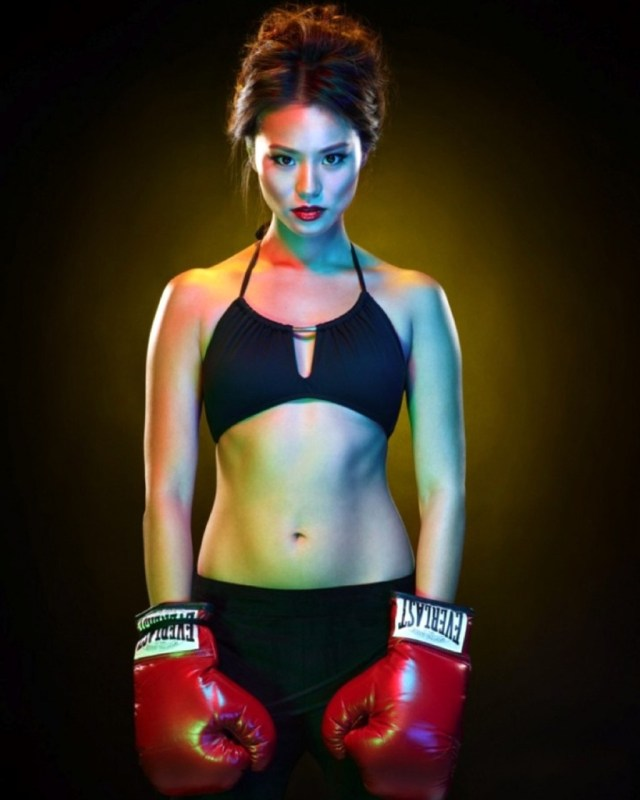 Jamie Chung with GLoves