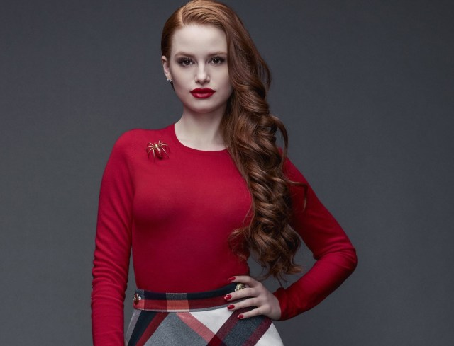 Madelaine Petsch Sexy Red Lips