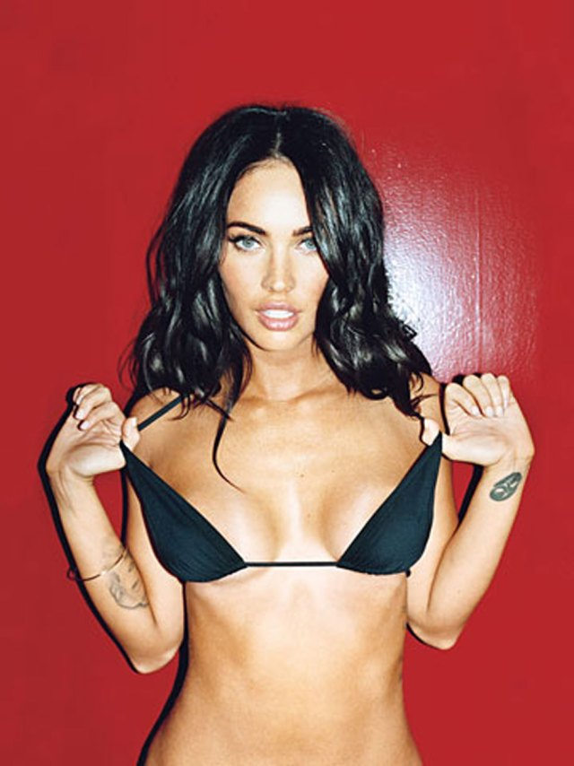 Megan Fox Removing Undergarments