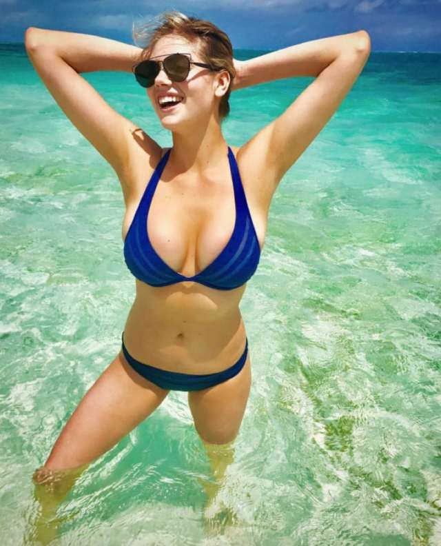 Kate Upton in Blue Bikini