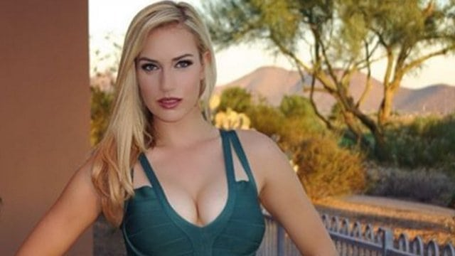 Paige Spiranac Hot in Green