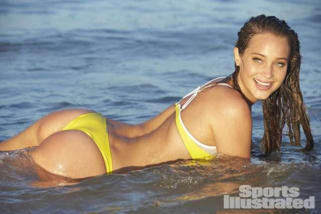 Hannah Davis on Yellow Bikini