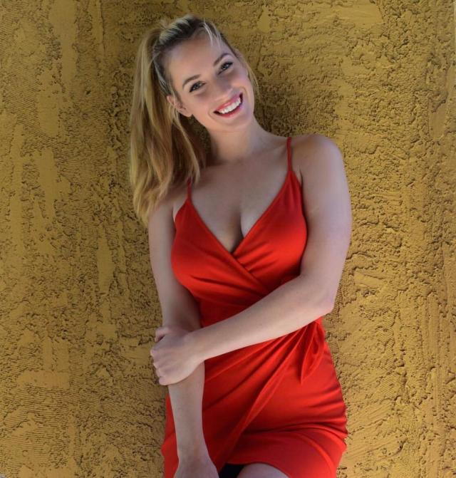 Paige Spiranac Hot in Red