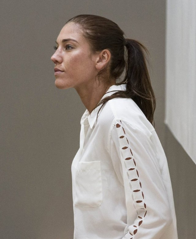 Hope Solo on White