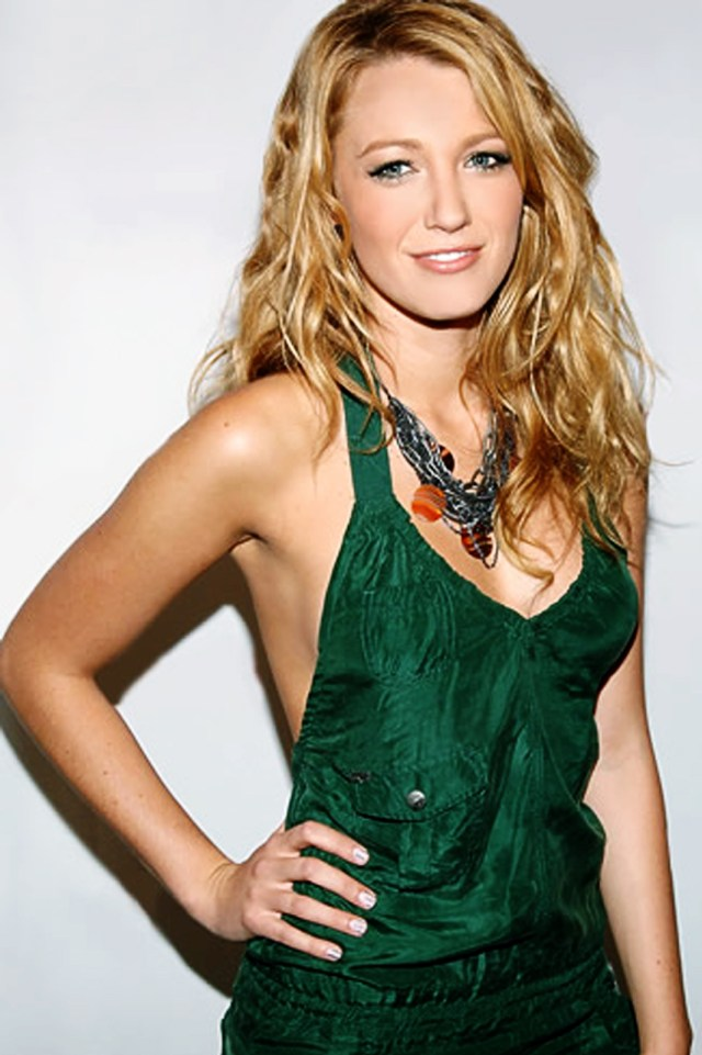 Blake Lively In Green Dress
