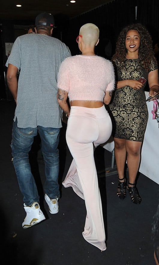amber rose white dress