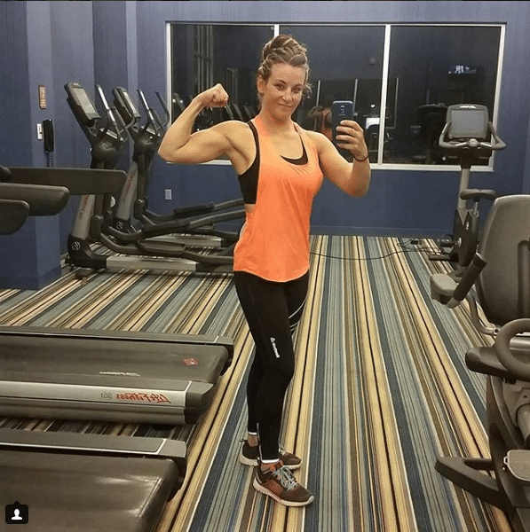miesha tate during the excercise