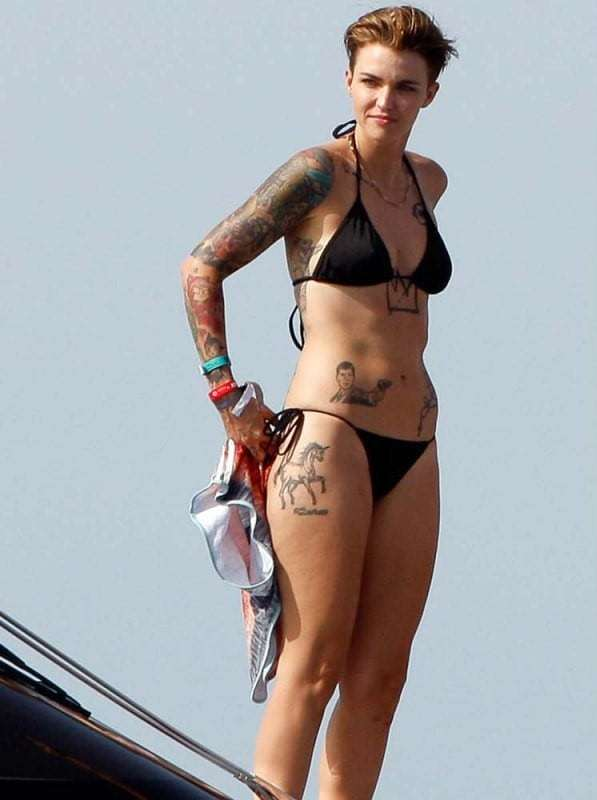 Ruby Rose Sexy in Bikini