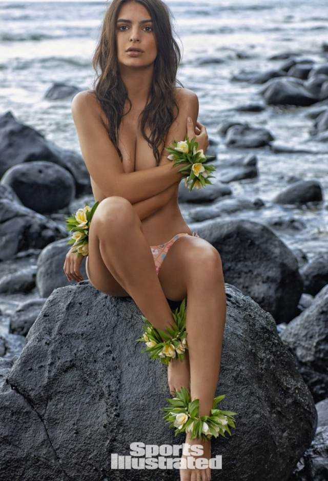 Emily Ratajkowski on Beach